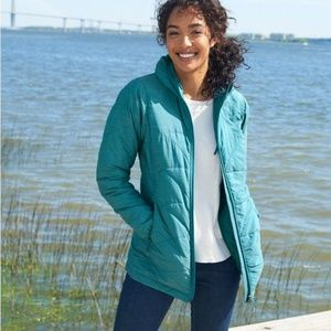 LL Bean Primaloft Packaway Women's Teal Jacket